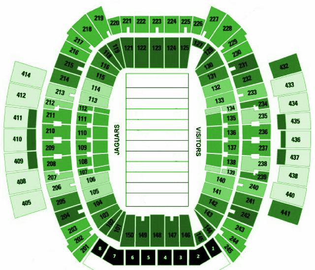 Jacksonville Jaguars Seating Chart For EverBank Field